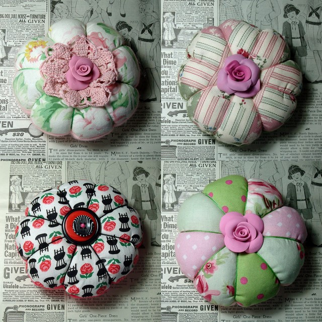 Pin cushion collage